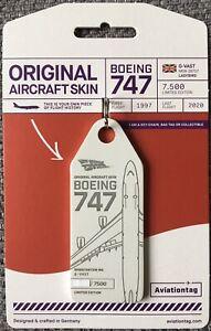 Aviationtag : Virgin Atlantic Boeing 747-400 (G-VAST) LADYBIRD : SOLID WHITE TAG