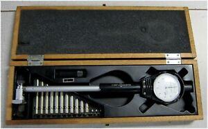 "Scherr Tumico Bore Gauge 2"" to 6""  Goodson Wood Box MCB-06  41120 Made In Japan"