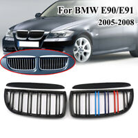 Black Dual Line M Style Front Kidney GRILL For BMW E90 320i 325i 325xi 330i 328i