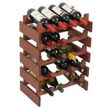 Wooden Mallet 20-Bottle Dakota Wine Rack  Mahogany NEW