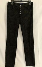 Tractor BLU Women Black Printed Button Fly Jeans Size 30