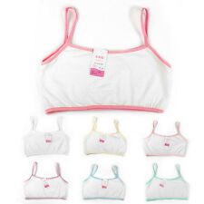 New Kids Girls Bra Underwear School Students Cotton Sports Vest Undies Brassiere
