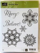 Stampin Up SNOWFLAKE SOIREE clear mount stamps NEW Christmas Holiday winter