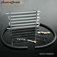 UK Universal Aluminum Remote Transmission Oil Cooler Auto-Manual Radiator Kit