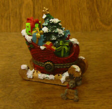 Boyds Treasure Box #4041890 ST. NICK'S SLEIGH w/ ORVILLE McNIBBLE, 1st Ed  MIB