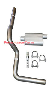 Fits 88-06 Chevrolet Silverado 1500 Mandrel Bent Exhaust w/ Performance Muffler