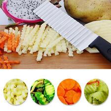 1Pc Stainless Steel Potato Wavy Cutter Vegetable Fruit Knife Slicer Kitchen Tool