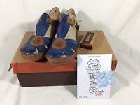Pikolinos Pue...ndal Leather  Sandals Women Royal EU 37 US 6 NIB
