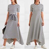 J Crew Stripe Knit Maxi Dress T Shirt Size Small Petite Cotton $120 New