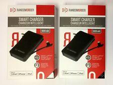 2-PACK (TWO) RandomOrder Battery Pack 9000mAh Lightning Power Bank iPhone NEW