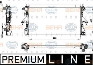 BEHR/MAHLE RADIATOR Fits FIAT DUCATO 250,290 11-on 8MK 376 733-531/8MK376733531