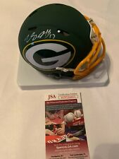 Davante Adams Autographed Green Bay Packers AMP Speed Mini Helmet JSA COA