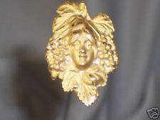 Antique Art Nouveau Hatpin Has Lady'S Face With Grapes In Her Hair
