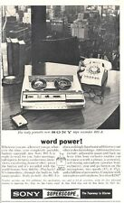 1964 Sony Superscope Reel to Reel Model 801-A PRINT AD