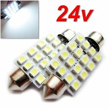 UK 24v x2 C5W 40/41mm camión camión matrícula ambiente Interior Festoon Bombilla LED