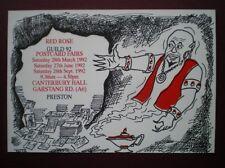 POSTCARD LANCASHIRE RED ROSE GUILD 92 POSTCARD FAIR PRESTON