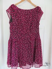 Doll & Frog Burgundy Berry Polka Dot Tea Dress Size 16 *Worn Once