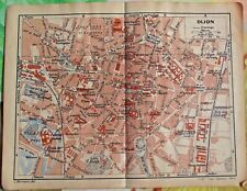 1930 the guide of the old town Dijon Department 21 old map art print