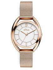 s.Oliver Time Damen Edelstahl Milanaise Armbanduhr Rosègold SO-3324-MQ