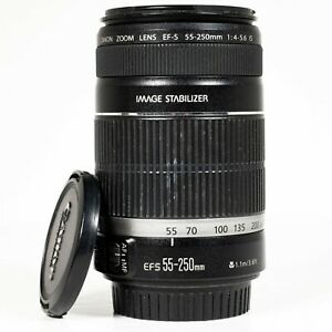 Canon EF-S 55-250mm F/4-5.6 IS Image Stabilizer Zoom Lens