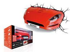 3D Red Sport Racing Car 3D Light FX Kids LED Wall Night Light