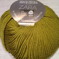 1 Skein Filatura Di Crosa ZARA Yarn Color 1503 50g 136yd 100% Merino Wool Italy