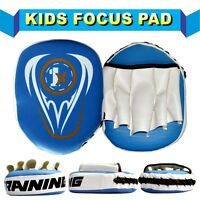 Kids Focus Pads,Hook and Jab,MMA Boxing Kick Curved Mitt Gloves Thai Muai Pads R