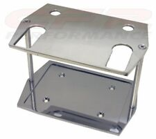 Polished Smooth Aluminum Battery Tray Fits Optima 75/25 4 Post Batteries
