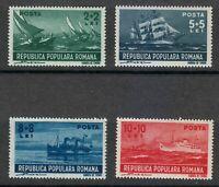 Romania 1948 MNH Mi 1149-1152 Sc B392-B395 Ships,sailboat,ferry ** LUXUS
