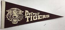 "1960 Detroit Tigers Felt Pennant Vintage Baseball Briggs Stadium 20"" Long"