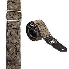 Art Design Guitar Strap CANVAS GREY random typeface 3044 under ground hipster