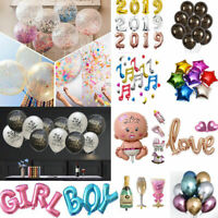 10X Heart/Letter/Numbers Foil Inflatable Balloon Brithday Wedding Hot Party Deco