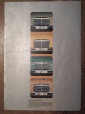MERCEDES BENZ 200D 220D 240D 3.0 orig 1974 UK Mkt Prestige Sales Brochure