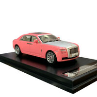In Stock 1:64 Rolls Royce Ghost Extended Wheelbase Pink Diecast Model Collection
