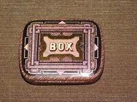 "VINTAGE 2 3/8"" X 1 7/8"" DODO DESIGNS TIN  BOX *EMPTY*"