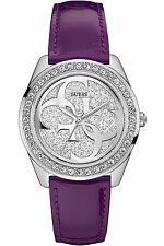 Guess Women's Stainless Steel ,Silver-Tone,Crystal Accented Bezel Watch W0627L8