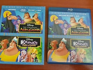 THE EMPEROR'S NEW GROOVE & KRONKS NEW GROOVE BLU RAY - REGION B DISNEY FREE POST