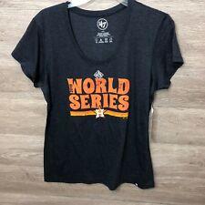 47 Brand Womens Large Houston Astros 2019 World Series T Shirt NEW