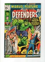 MARVEL FEATURE 1, VF/NM (9.0), 1971 MARVEL, 1ST APPEARANCE OF THE DEFENDERS