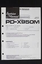 Pioneer PD-X950M Original Multi Play CD Player Service Manual/Wiring Diagram