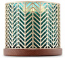 BATH & BODY WORKS GOLD CHEVRON LARGE 3-WICK 14.5 OZ CANDLE HOLDER SLEEVE