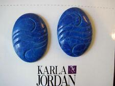 KARLA JORDAN Blue Stone Pierced Earrings NEW!