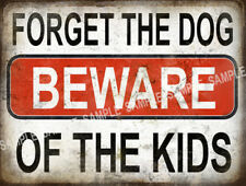 BEWARE OF THE KIDS  FUNNY METAL SIGN HOME DECOR:MAN CAVE: GREAT CHRISTMAS  GIFT