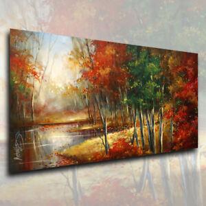 Michael Lang Landscape 'Autumn Grace' Contemporary Original Painting cert. C.O.A