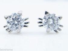 Orecchini di lusso con gemme tonda in argento sterling con zircone