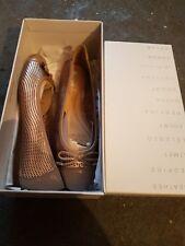 Geox Scarpe da donna rosa oro/taupe pelle verniciata Taglia 5 EUR 38 * Nuovo & Inscatolato *
