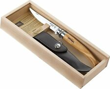 Opinel Wooden Gift Box 10 cm Slim Knife No. 10 Olive Wood Handle w/Sheath 001090
