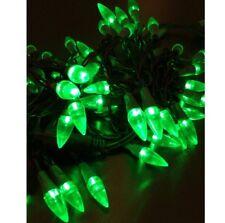 LED Lichterkette Partylichter 50 Lampen grün Tropfenform Weihnachtsbeleuchtung
