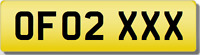 OF OFO  XXX SEXY  Private CHERISHED Registration Number Plate