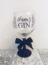 Personalised Gin Glass - Any Name - Birthday Gift 18th 21st 30th 40th 60th